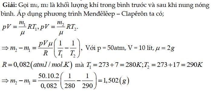 Bài tập 1 phương trình Cla-Pê-Rôn Men-Đê-Lê-Ép