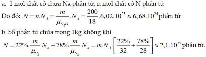 Bài tập 2 thuyết động học phân tử