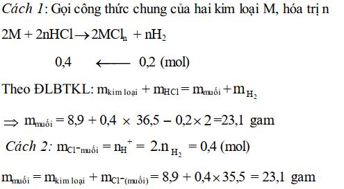 Bài tập định luật bảo toàn khối lượng - bài 6