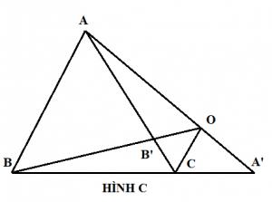 Chứng minh định lý Ceva mở rộng - hình c