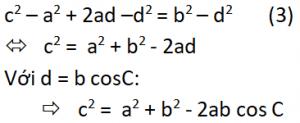 Chứng minh định lý hàm cos phương trình 3