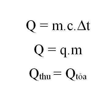 Công thức tính nhiệt lượng Q
