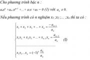 Định lý Viet tổng quát