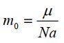 Khối lượng 1 phân tử trong thuyết động học phân tử