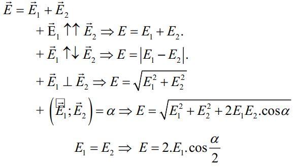 Nguyên lý chồng chất 2 điện trường