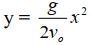 Phương trình quỹ đạo của chuyển động ném ngang