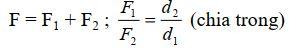 Qui tắc tổng hợp hai lực song song cùng chiều