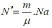 Số phân tử trong một khối lượng m một chất
