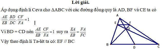 Ứng dụng định lý Ceva - bài 1