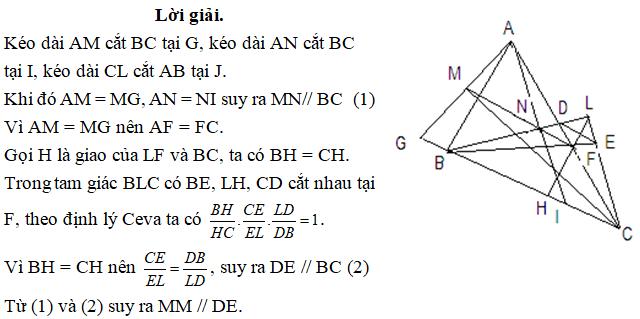 Ứng dụng định lý Ceva - bài 2