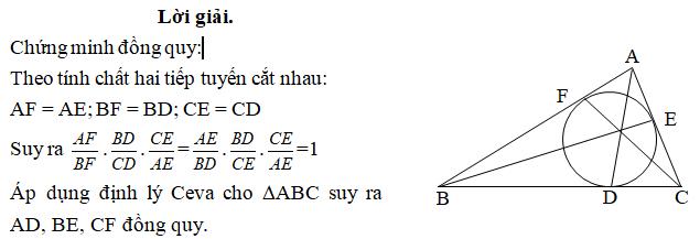 Ứng dụng định lý Ceva - bài 3