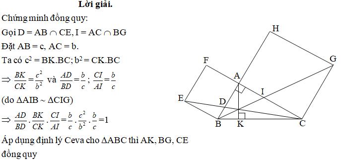 Ứng dụng định lý Ceva - bài 5