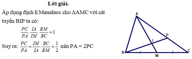 Ứng dụng định lý Menelaus bài 1