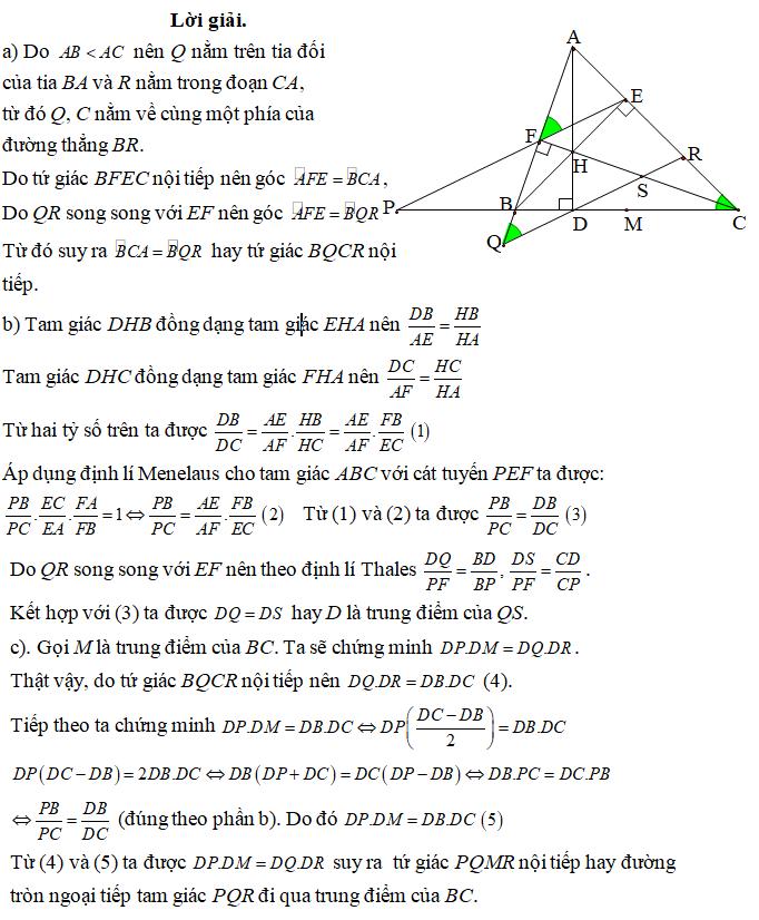 Ứng dụng định lý Menelaus bài 4