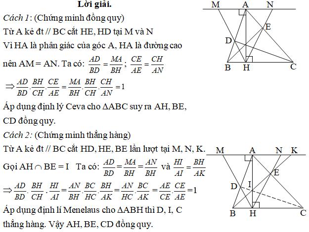 Ứng dụng định lý Menelaus bài 5