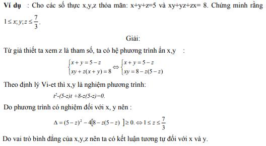 Ứng dụng định lý Vi-et - ví dụ 10