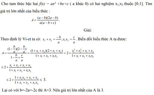 Ứng dụng định lý Vi-et - ví dụ 11