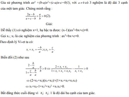 Ứng dụng định lý Vi-et - ví dụ 13
