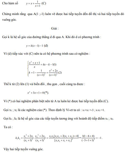 Ứng dụng định lý Vi-et - ví dụ 16
