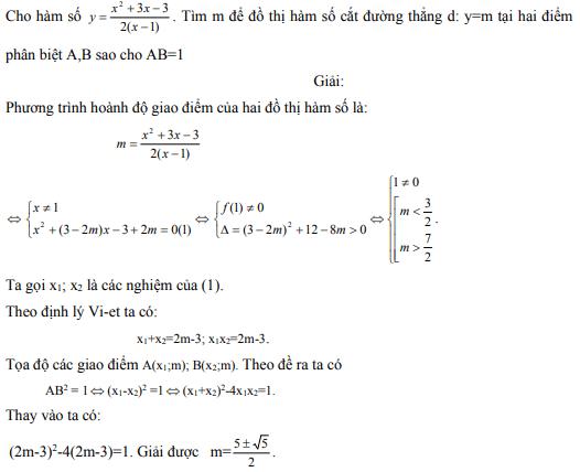 Ứng dụng định lý Vi-et - ví dụ 17