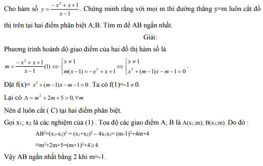 Ứng dụng định lý Vi-et - ví dụ 18