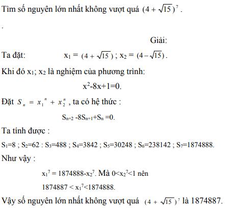 Ứng dụng định lý Vi-et - ví dụ 20