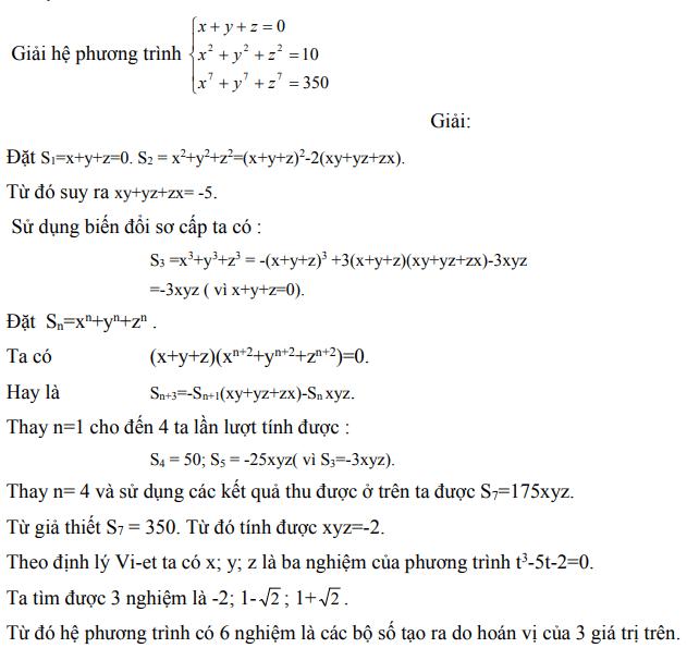 Ứng dụng định lý Vi-et - ví dụ 24