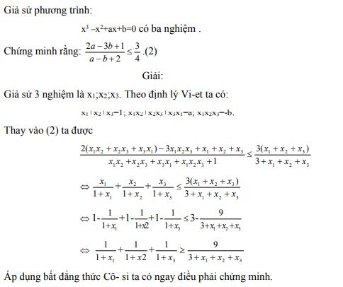 Ứng dụng định lý Vi-et - ví dụ 28