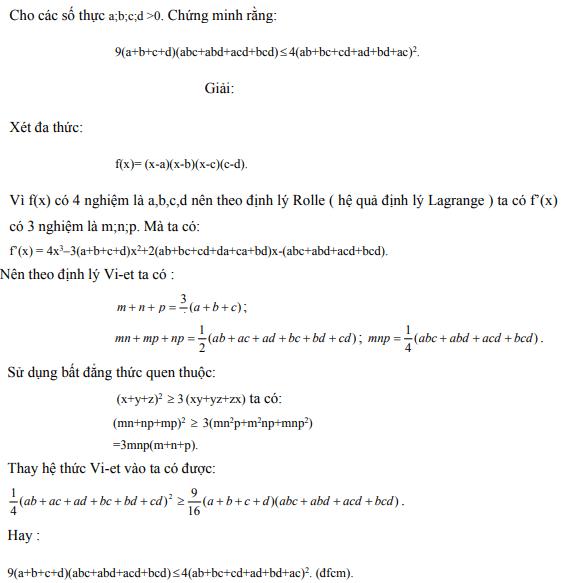 Ứng dụng định lý Vi-et - ví dụ 29