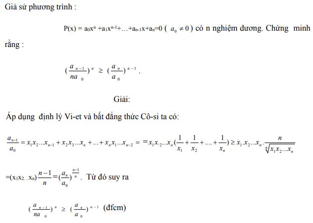 Ứng dụng định lý Vi-et - ví dụ 30