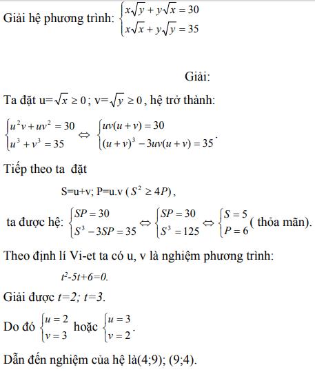 Ứng dụng định lý Vi-et - ví dụ 5
