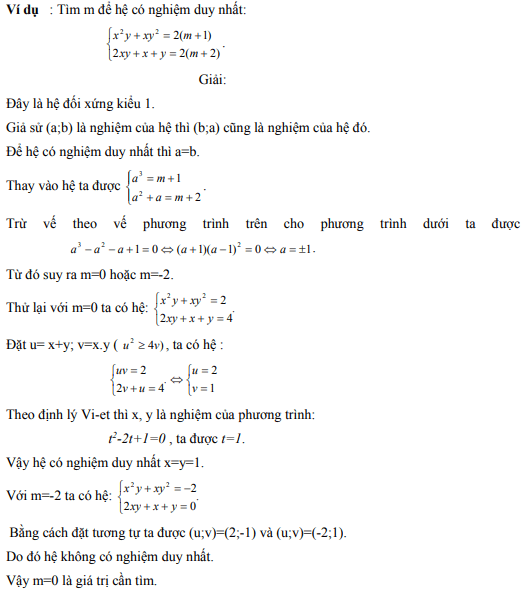 Ứng dụng định lý Vi-et - ví dụ 6