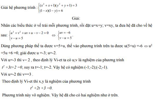 Ứng dụng định lý Vi-et - ví dụ 8