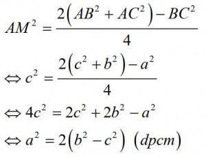 bài tập 3 định lý cosin